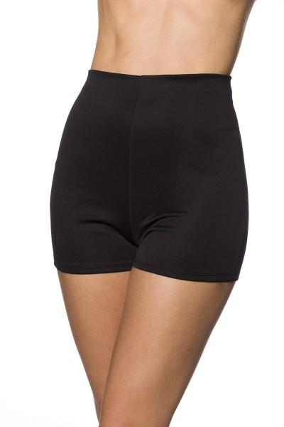 Enge Shorts High Waist-Hose mit Nahtreißverschluss Hotpants