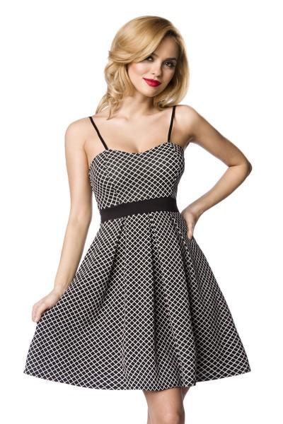 Schwarz weißes Sommerkleid / Abendkleid mit Herzausschnitt und Reißverschluss Größe S/M