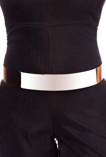 Damen Gürtel breit mit Metall in gold Metallgürtel mit Kettenverschluss