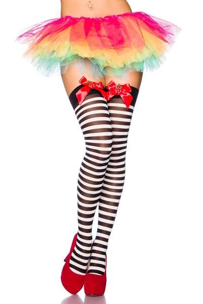 Kurzer Volant Rock in Regenbogenfarben aus Tüll mehrlagig Burlesque