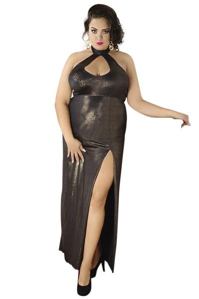 Damen Dessous Kleid gold, weich, dehnbar, Plus XXL Size ...