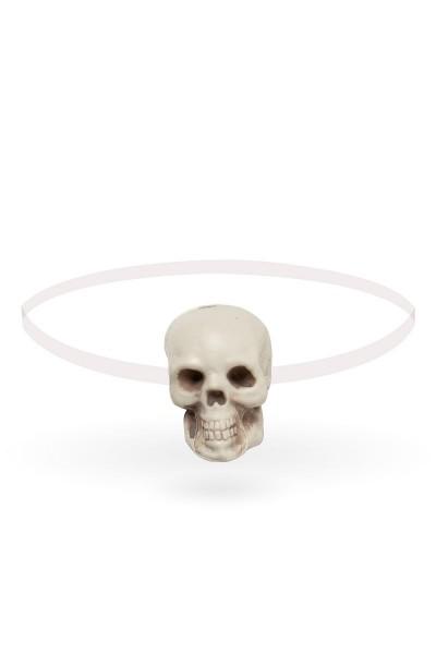Schwarzer Damen Totenkopf Kopfschmuck Haarband Fasching mit Totenkopf Verkleidung Fascinator