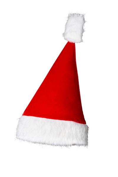 Rot weißer Damen Weihnachtsmütze Zipfelmütze mit Bommel und Kunstfellrand Santa Weihnachtsmann Fasch