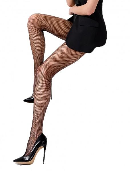 Damen Netzstrumpfhose in schwarz transparent