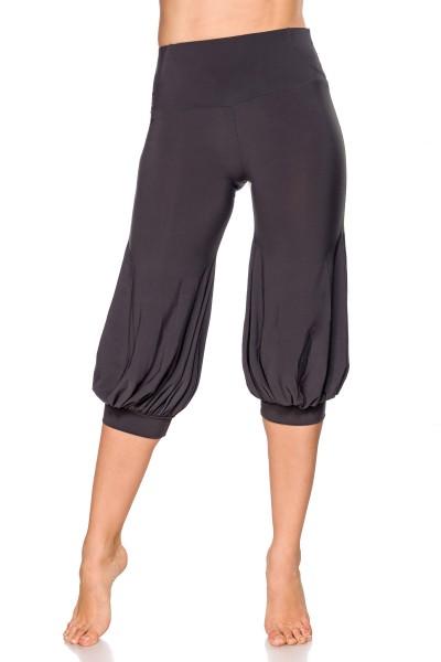 Damen Hose mit weiten Beinen und Falten Graue Pants ausgestellt Knickers Pants