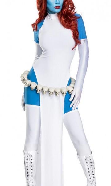 Damen Cosplay Priesterin Fantasy Kostüm Overall Verkleidung aus Kleid, Overall, Handschuhe und Strüm