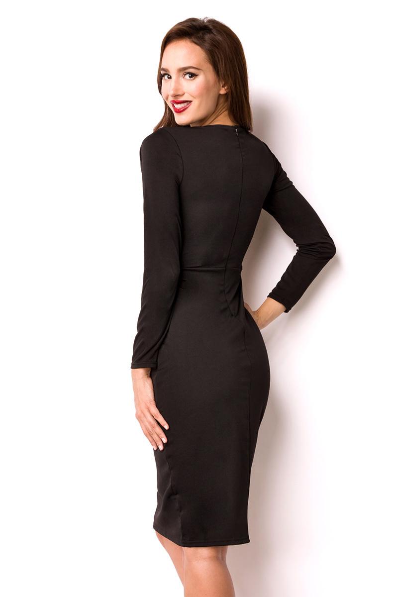 Kleid, geschnürt, schwarz, Zum Schnüren, Ausschnitt, offen ...