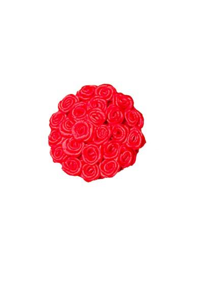 Rote Damen Nippel Patch mit Rosen klein verziert selbsthaftend Rund 2x