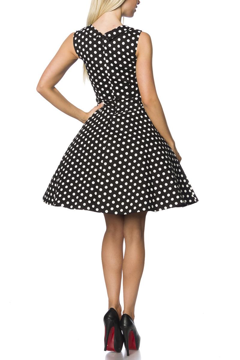 Rockabilly Kleid schwarz weiß, Kleid knielang aus ...