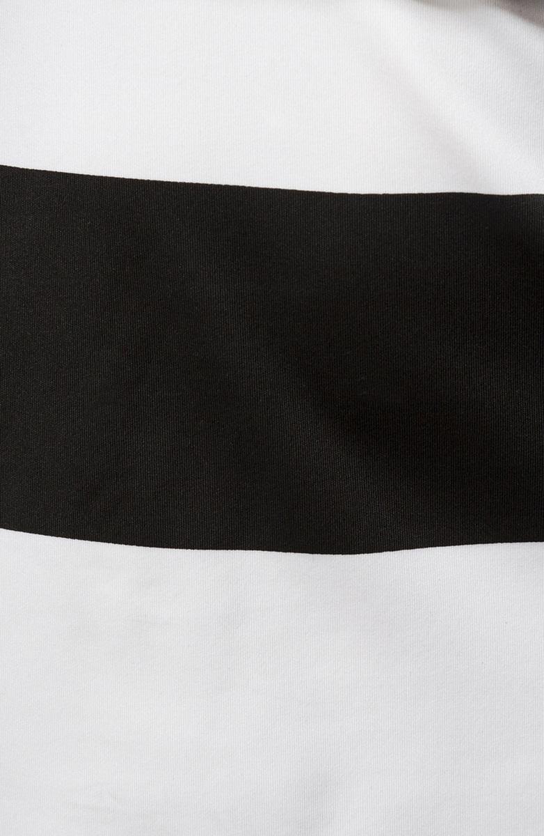 Kleid, schwarz weiß, Rundhalsausschnitt, Minikleid, Gürtel ...