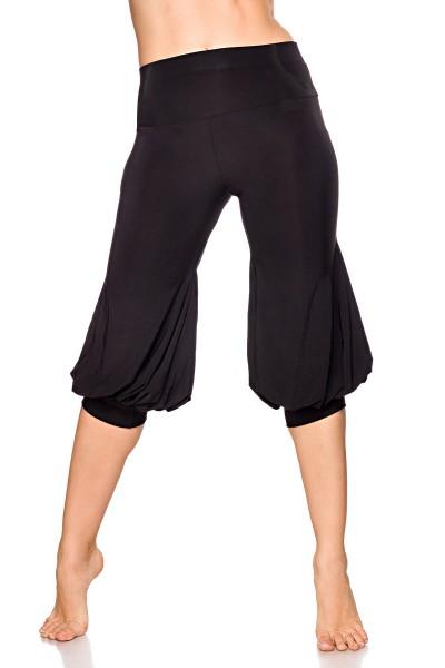 Damen Hose mit weiten Beinen und Falten Pants ausgestellt Knickers Pants