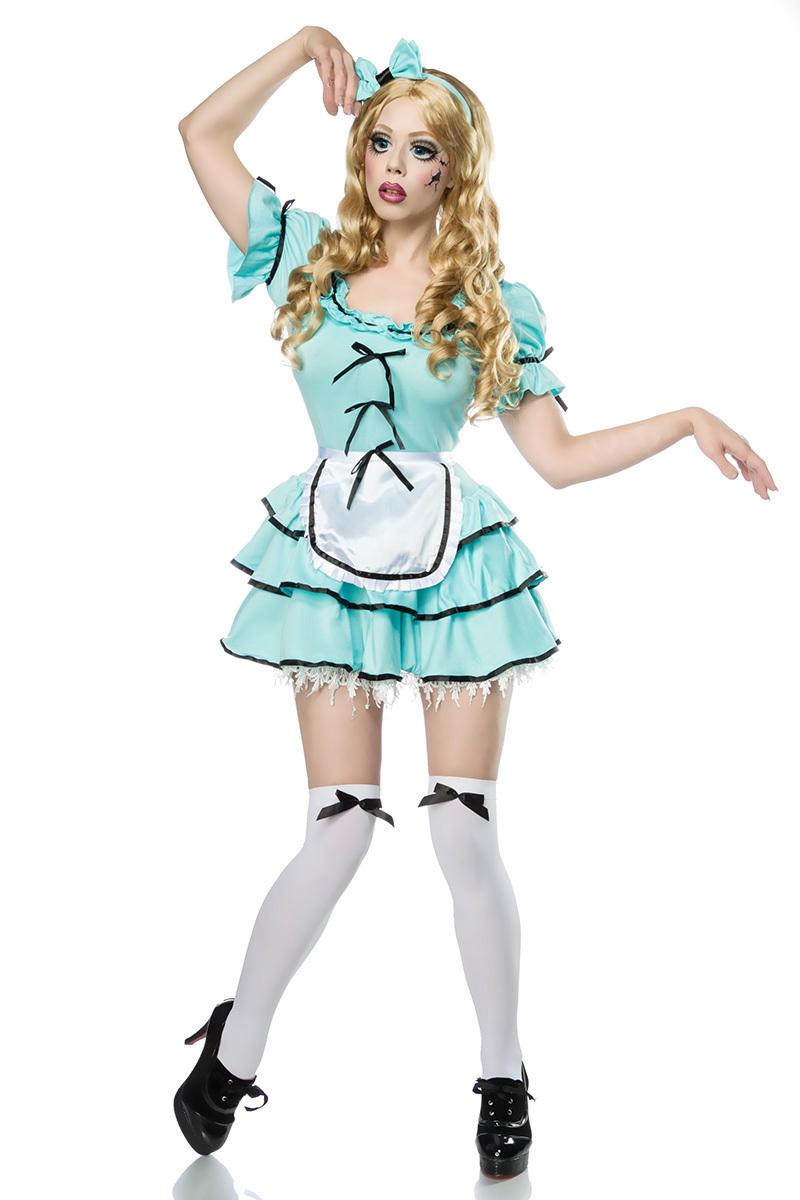 Horror Doll Komplettset, Halloween Verkleidung, Puppen Kleid ...