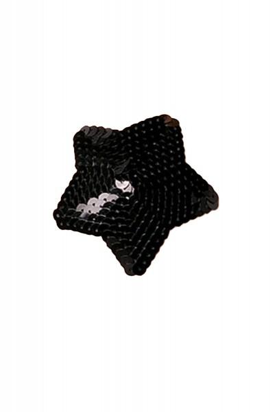 Schwarz Damen Nippel Patch mit Pailletten klein verziert selbsthaftend Stern-Form 2x