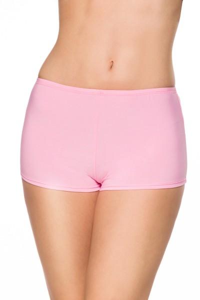 Rosa weicher Jersey Damen Panty dehnbar enger Panty Slip Hotpant High Waist