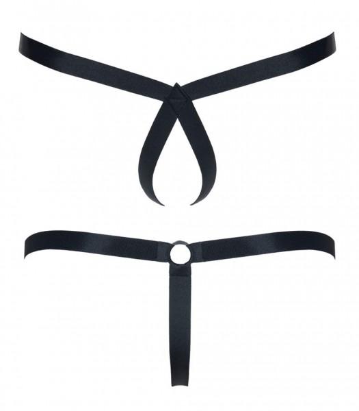 2er Pack Harness String offen schwarz aus Gummibänder dehnbar 2 Varianten