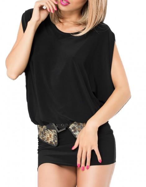 Abendkleid Gogo Partykleid in schwarz elastisch mit Rückenausschnitt