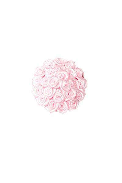 Rosa Damen Nippel Patch mit Rosen klein verziert selbsthaftend Rund 2x