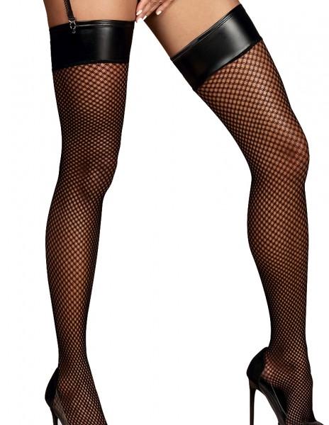 Erotische Stockings Frauen Dessous Strapsstrümpfe nicht selbsttragende für Strapsgürtel Wetlook Stri