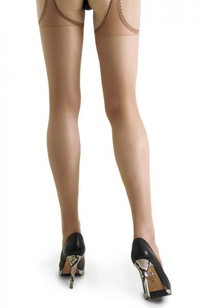Offene Damen Dessous Strumpfhose in natur transparent 20 den