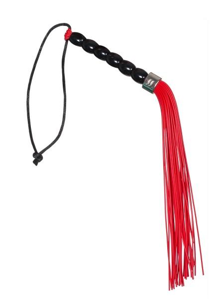 Gerte mit Gummibändern Peitsche für sinnliche Spiele rot schwarz
