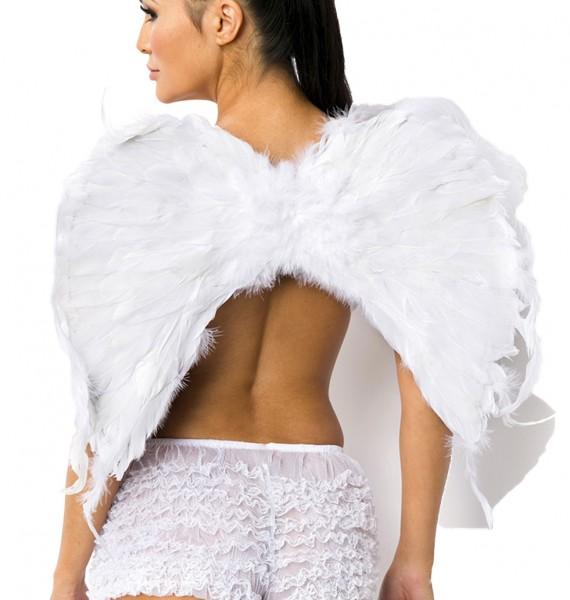 Weiße Damen Engels Flügel Gummibänder Flüge Dark Angel Verkleidung Fasching