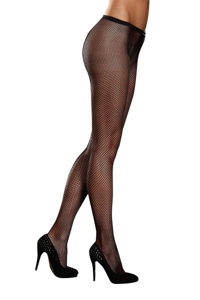 Sexy Dessous Netz Strumpfhose in schwarz Damen Strumpfhose transparent aus Netzmaterial