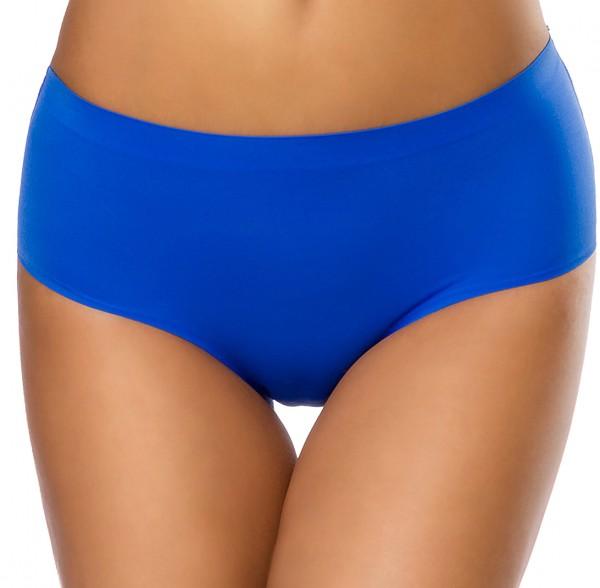 Blauer weicher Nahtloser Damen Panty dehnbar Seamless Panty Slip