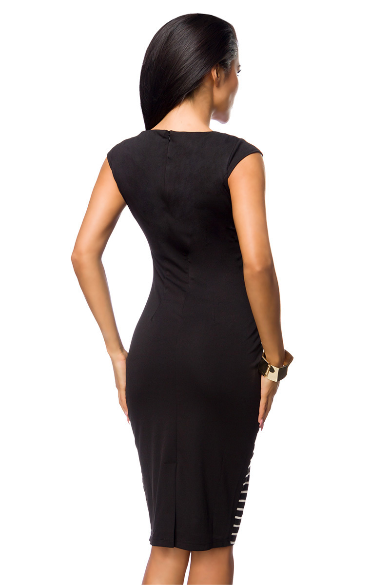 Damen Sommer Kleid, Bleistiftkleid gestreift, Abendkleid ...