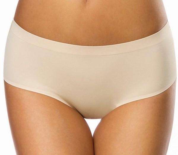 Beiger weicher Nahtloser Damen Panty dehnbar Seamless Panty Slip