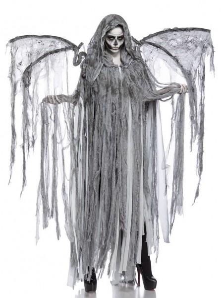 Damen Cosplay Todesengel Fantasy Kostüm Overall Verkleidung aus Fransencape, Flügel lange Fransen in