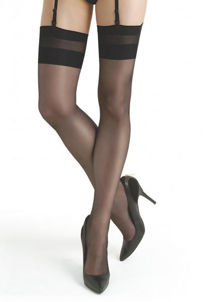 Schwarze Damen Dessous Strümpfe Strapsstrümpfe Stockings 20 den